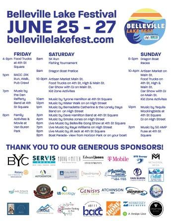 Belleville Lake Fest Schedule of Events 2021